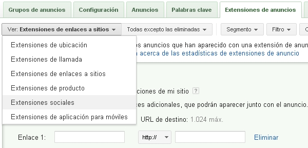 Extensiones en Adwords